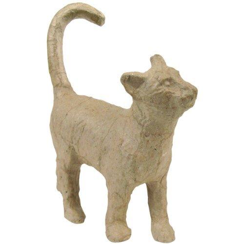Paper Mache Figurine 4.5-Cat by Decopatch