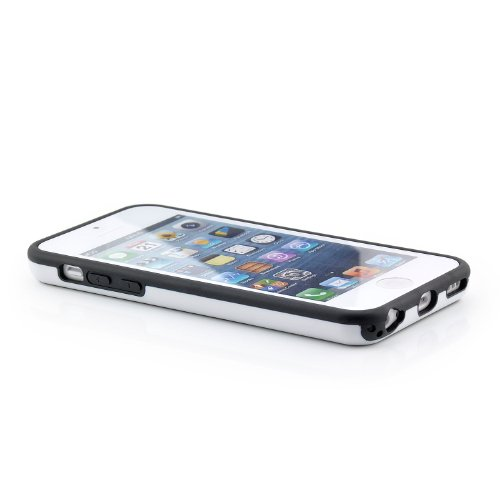 Diamond saxonia. de luxe pour apple iPhone 5C étui de protection-coque coque bumper blanc/noir/blanc blanc