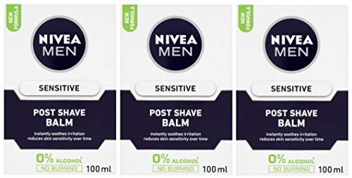 Nivea Men Sensitive After-Shave-Balsam, 0{748f63e9d98380dce0230ed6ae6aa6dcb3b5ba9ae322179c114b7175598f6bd2} Alkohol, 3er-Pack