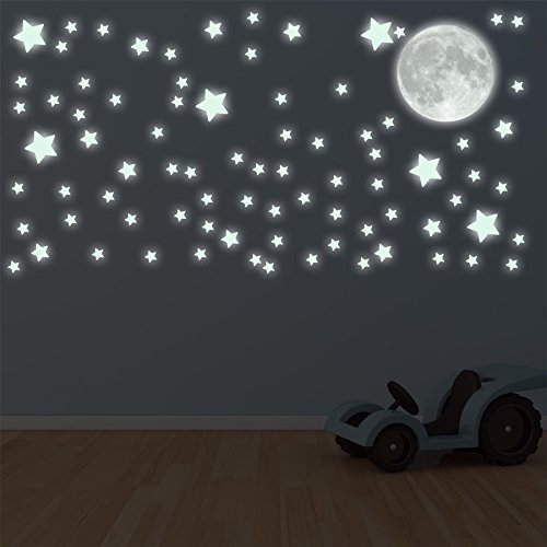supertogether-glow-in-the-dark-moon-and-82-stars-childrens-bedroom-ceiling-stickers-kids-solar-lunar