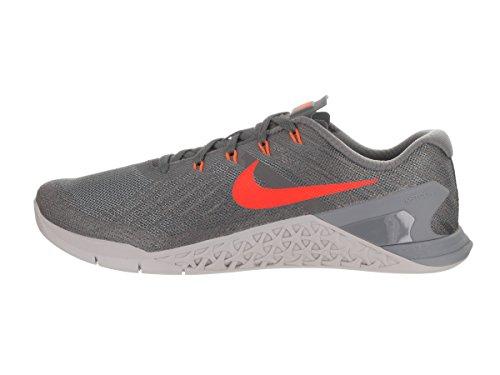 Nike Metcon 3, Chaussures de Gymnastique Homme Multicolore (Dark Grey/hyper Crimson/wolf Grey)