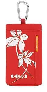 Golla Etui Hawaii vertical avec mousqueton pour Téléphone portable Rouge