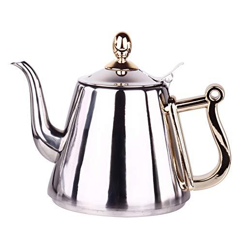 CAheadY 1.5l edelstahl küche brauen tee kaffee topf wasser induktionsherd langlebig wasserkocher Silver - Brauen Topf