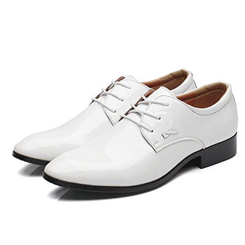 Zapatos de Cordones para Hombre, Zapatos de Hombre de Cuero PU, Zapatos de Vestir Hombre, Zapatos Casuales Zapatos Bajos de Bandas Oxfords Zapatos