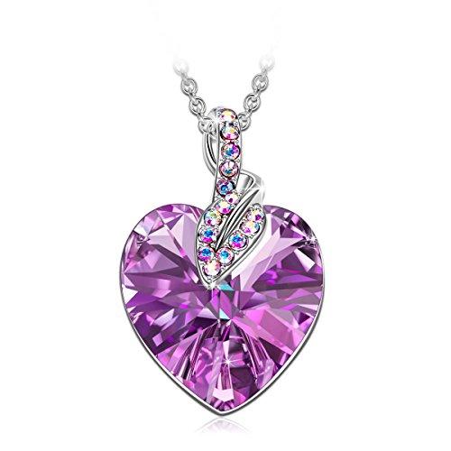 erz anhänger schmuck, mit Swarovski Kristall, Halskette Damen, schmuck Damen, Geschenke für Frauen, Kette Damen, (Geschenk der Liebe Lila) ()
