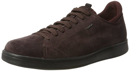 Geox U Warrens A, Sneakers Basses Homme Rouge (Dk Burgundy)