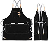KINIVA Apron with Pockets for Men Women, Chef, Waiters, Artists, Work Aprons for Grill Kitchen Restaurant Bar