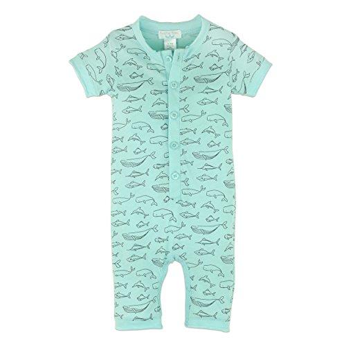 Feder Baby Little Boys Pima-Baumwolle Short Sleeve Henley einteiligen Shortie Strampler, 88J.167AQ.12 Boys Henley