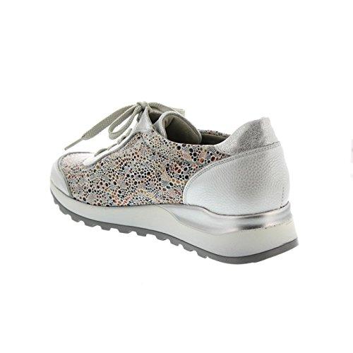 Waldläufer H64001-302-211, Chaussures À Lacets Pour Femmes En Argent