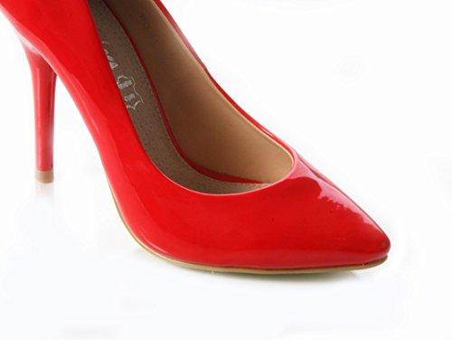 Mojoshu , Sandales Compensées femme red