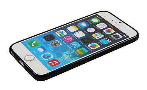 Luxburg® Housse Etui Coque Apple iPhone 6 silicone case TPU Vert pomme TPU - Noir