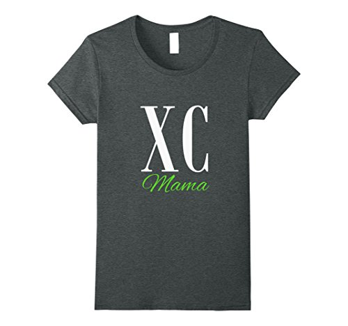 Womens Cross Country Mama T-Shirt for Proud Mothers Large Dark Heather (Damen Cross Dark T-shirt)