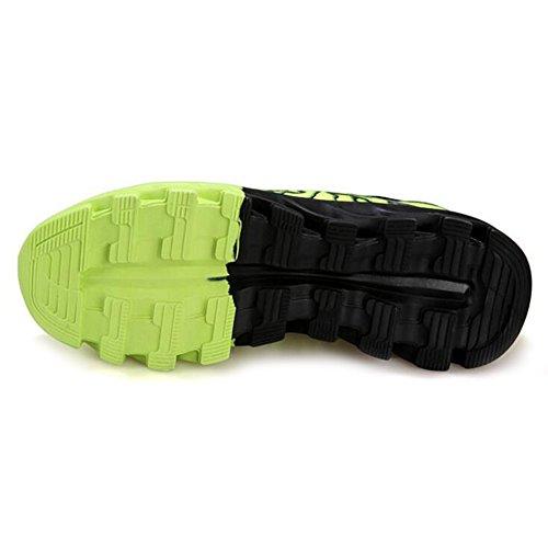 GAXmi Chaussures pour hommes Foudre Modèle Lacer Respirant Décontractée Espadrilles Vert