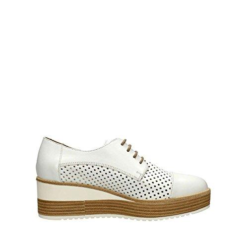 Janet Sport , Chaussures de ville à lacets pour femme blanc Bianco Bianco