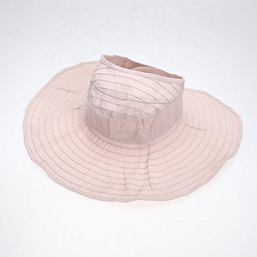 La Cabina Chapeaux Femme Melon en Dentelle - Chapeau Femme été Plage-Chapeau Pliable Anti-soleil -Multicolore Taille Unique Rose