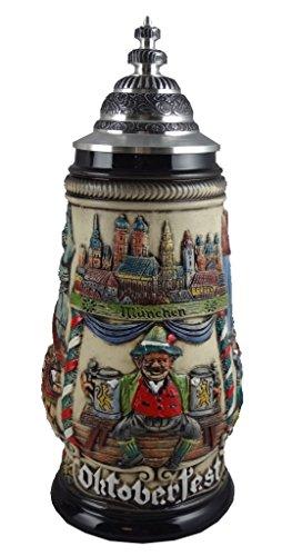 Jarra de cerveza alemana Munich Oktoberfest, jarra 0,5 litros ZO 1756/906