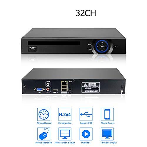 QLPP 32CH 4K NVR 5MP Sistema cámaras Seguridad IP