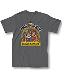 Rescue Rangers Chip And Dale Adult Charcoal T-shirt