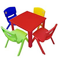 Strong Kids Children Table and Chairs Set for Study, Activity Garden Indoor
