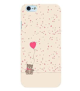 Citydreamz Teddy\Heart\Love\Valentine Hard Polycarbonate Designer Back Case Cover For Apple Iphone 6 Plus/ 6S Plus