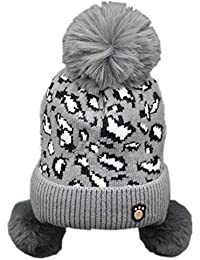REIA Sombrero de Lana para niños Orejeras de Invierno Gorra Caliente para  niñas Sombreros de Felpa Suave… ff9e812e920