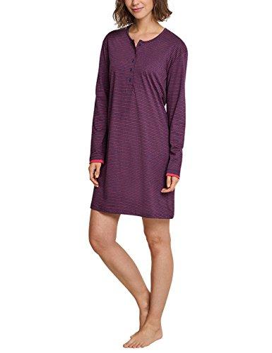 Schiesser Damen Nachthemd Sleepshirt 1/1 Arm, 90cm, Rot (Brombeere 530), 40