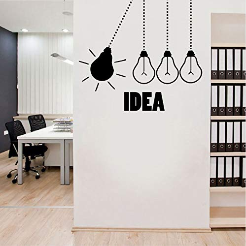 Wuyyii 62X57Cm Glühbirne Büro Wandtattoo - Glühbirnen Büro Vinyl Wand Dekor Grafik Arbeit Idee Kreative Wandaufkleber