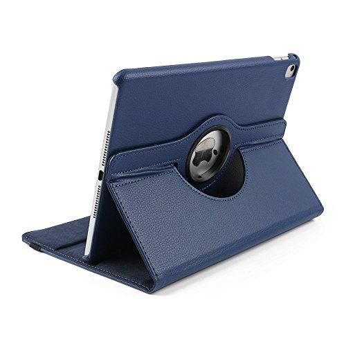 Preisvergleich Produktbild Hülle für iPad 4, elecfan ® Ultra Dünn Leichtgewicht 360°Grad Drehung PU Leder Schutzhülle Tasche Wasserdicht Case Smart Cover mit Ständer Multi Winkel Betrachtung Anti Kratzer Schutzhülle für iPad 2/3/4 (iPad 2/3/4, Blau)