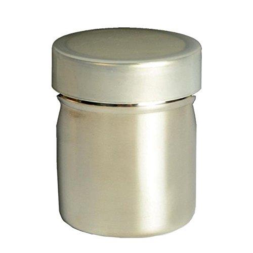 ABBY Sel-Tamis à Farine en Acier Inoxydable Poudre de Tamis avec Couvercle en Forme de Cylindre pour Cuisine