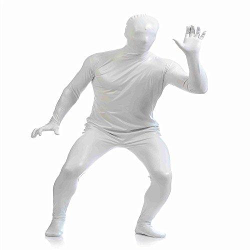 P Prettyia Spandex Body Suit Ganzkörperanzug Ganz Körper Suit Kostüme Overall Ganzkörper Anzug Catsuit Dancewear - Weiß, s (Ganzen Körper Spandex Anzug)