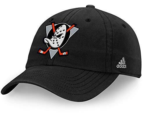 Adidas Jersey Cap (adidas Anaheim Mighty Ducks Team Logo Slouch Adjustable Hat Black)