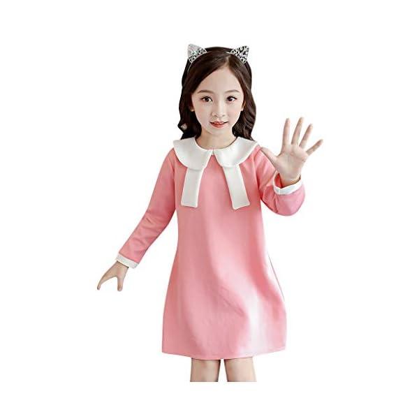 Heetey - Conjunto de Ropa y Abrigo para niña, con Forma de bebé, para Ocasiones Informales, con diseño de Encaje Normal… 3