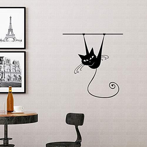 Wandaufkleber/Wandtattoo, Motiv schwarze Katzen, für Zuhause, Büro, Fensterdekoration (Kleinkind Diy Halloween-kostüm-ideen,)