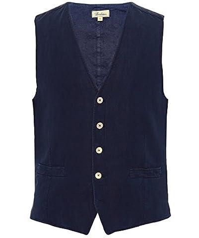 Stenstroms Hommes Linen Waistcoat Marine L