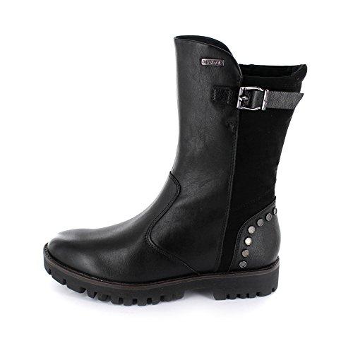 Tamaris Damen Stiefel aus Glattleder/Textil in schwarz mit DUO-Tex-Membran Schwarz