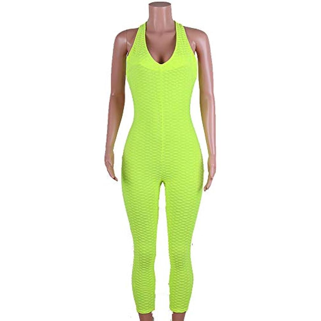a67d2581e649 YyZCL Tuta Yoga Attillata Pantaloni da Ginnastica a Nido d'Ape Verde da  Donna Tute Sportive da Donna (Dimensione : M)