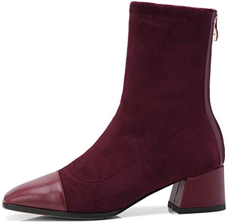 AdeeSu SXE05014, Sandali con Zeppa Donna, Rosso Rosso Rosso (Claret), 35 EU | Materiali Selezionati Con Cura  82c564