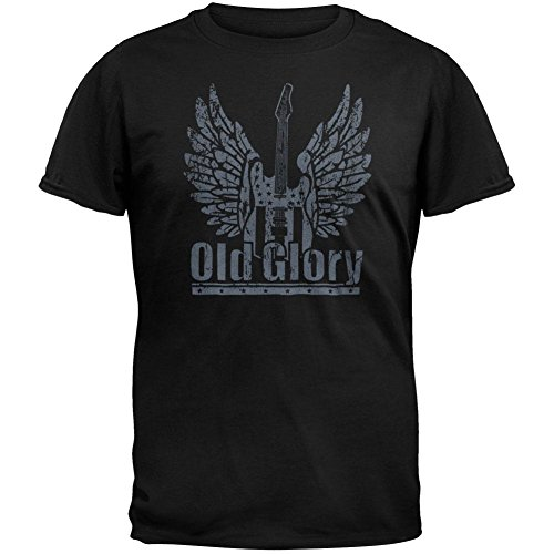 Old Glory Winged Guitar Logo T-Shirt Black