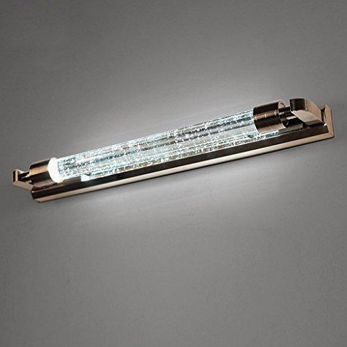 LED 54CM runden Kristall Spiegel vorne Lampe modernen einfachen Bad wasserdicht Anti-fog Spiegel Schrank Lampe Wand Lampe Make-up Spiegel vorne Lampe weißes Licht