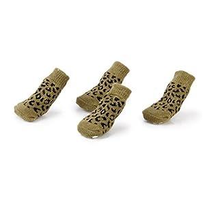 Nalmatoionme Lovely Tiny Petit Chien Chiot Chat Imprimé léopard antidérapant Chaussettes (café)