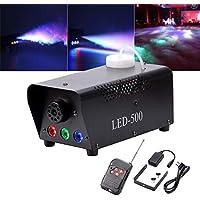 yimosi 500W, máquina de humo RGB LED Fogger luces de efecto de escena con mando a distancia para DJ CLUB boda cumpleaños tarde Disco Bar