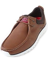 Snipe Zapatos de Cordones de Piel Para Hombre Marrón Braun (Cuero Marron)