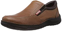 Lee Cooper Mens Brown Leather Loafers and Mocassins - 10 UK
