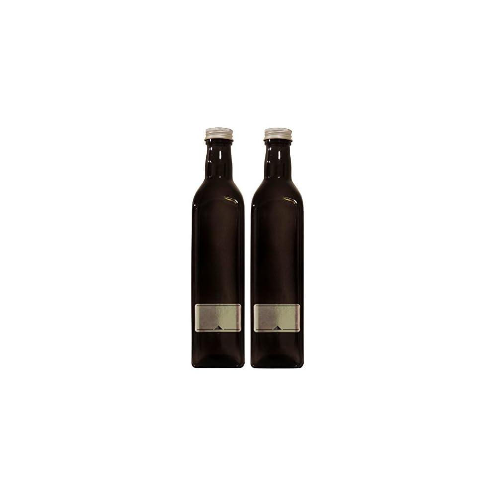 Viva Haushaltswaren 36945 2 X Lflasche 500 Ml Glasflasche Mit Schraubverschluss Inklusive Etiketten Zum Beschriften Braun 58 X 58 X 26 Cm