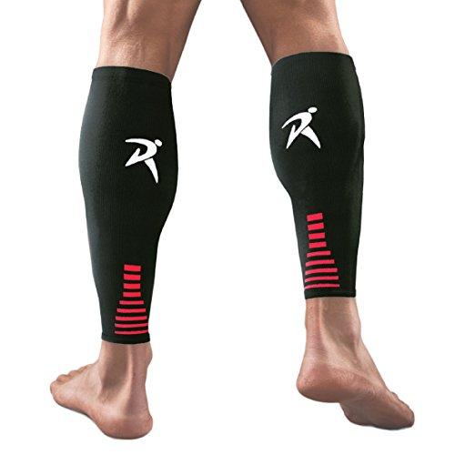 Fußlose Kompressionsstrümpfe Ärmeln - Abgestufte Kompression Wadenbandage, Unisex für Männer und Frauen