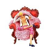 SONGDP Anime Charakter One Piece Anime Modell (Sofa sitzen Stil Donquixote Doflamingo) Boxed Hand Made Statue Dekoration/Geburtstagsgeschenk/Sammlerstück/Handwerk/Geschenk 23cm Anime Anzug