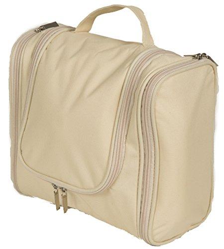 ***Aktion *** CoB Kulturtasche Elegance - Die edle Kulturtasche, die keine Wünsche offen lässt. In eleganter creme /gold Farbe. - Kulturtasche, Kulturbeutel, Kosmetiktasche, Kosmetikbeutel, Schminktasche, Schminkbeutel,