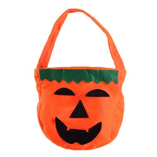 Leisial Zufälliger Stil Halloween Kürbis Tasche Vliesstoffe Süßigkeiten Kürbis Tasche Kinder Halloween Dekoration