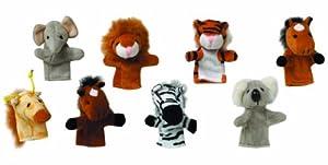Gollnest & Kiesel 15125 - Marionetas de dedo, animales salvajes, paquete de 8 piezas, modelos surtidos
