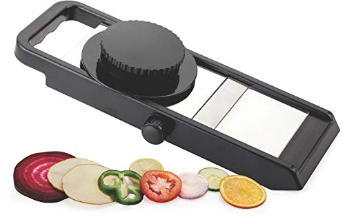 Ganesh Potato Slicer for Chips Vegetable & Fruit Cutter Slicer, Black/Silver